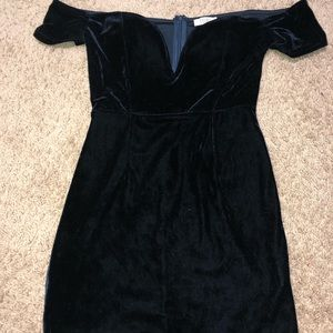 Velvet bodycon mini dress